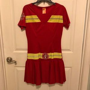 Women's firefighter costume large